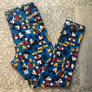 LuLaRoe Disney Mickey Mouse TC leggings